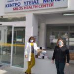 Χωριανοπούλου Έλλη : Παράδοση rapid test στο Κέντρο Υγείας Μήλου